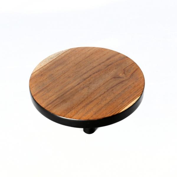 Plateau hout en zwart medium