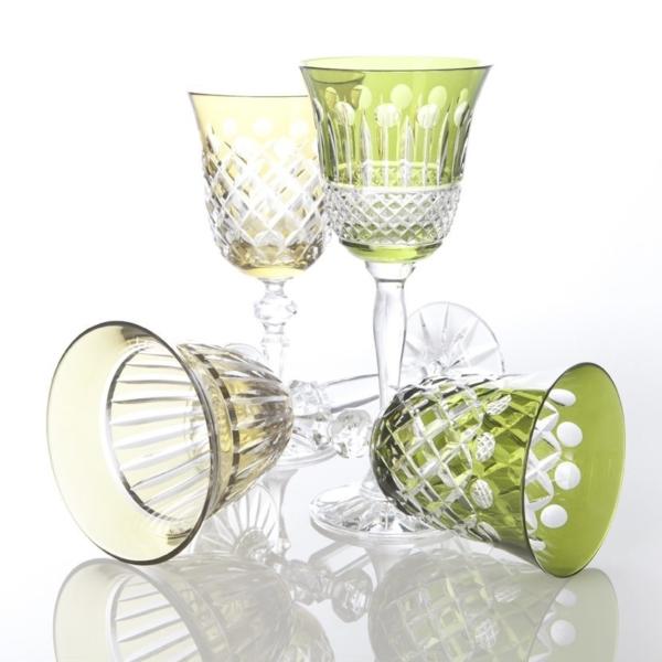 Wijnglazen Gekleurd Kristal